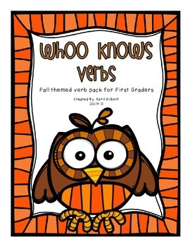 Verbs for First Graders! Fall and Thanksgiving Fun!