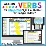 Verbs for Google Slides Paperless Digital Activities