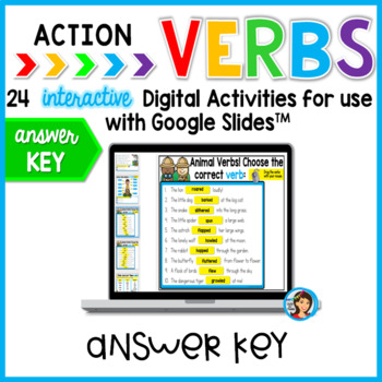 Verbs for Google Slides Paperless Digital Activities