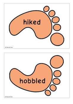 "Verbs for ""Went"" - Footprints"