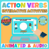 Action verbs Boom cards   No Prep   ELA Distance Learning