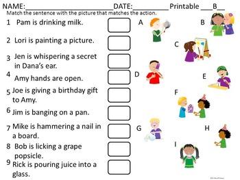 Verbs: Task Cards (Worksheets)