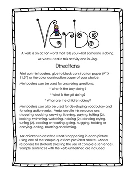 Verbs in Preschool:  Second Edition