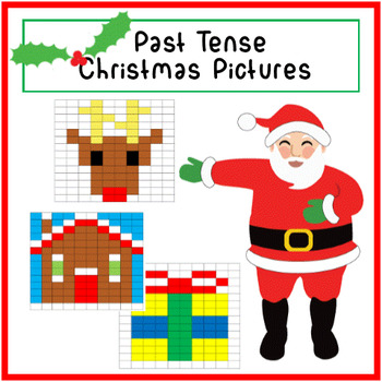 Verbs in (Simple) Past Tense - Christmas Picture Activity!
