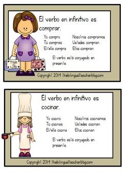 Verbs in Spanish Task Cards