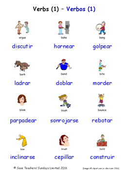 Verbs in Spanish Word searches / Wordsearches