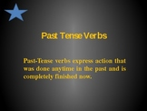 Verbs in the past tense