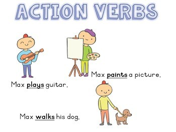 Verbs introduction lesson