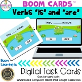 """Verbs """"is"""" and """"are"""" Boom Cards"""