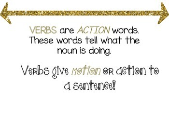Verbs lesson and worksheet