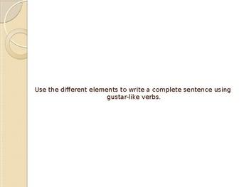 Verbs like Gustar Grammar Whiteboard Practice