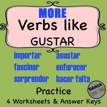 Verbs like Gustar Practice Worksheets 2