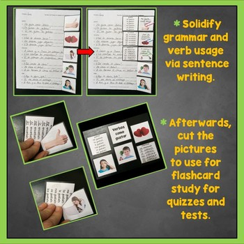 Gustar, Verbs like Gustar Activities, Spanish Interactive Notebook Trifolds