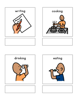 Verbs - matching book, flash cards and more!!