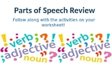 Verbs, nouns, adjectives, and adverbs practice
