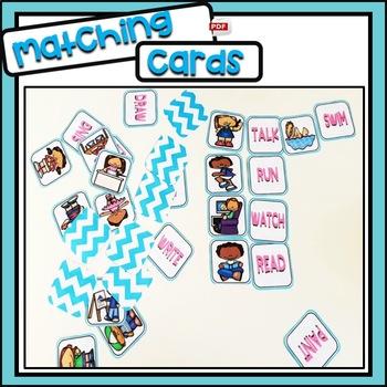 Verbs part 1 - Matching Cards