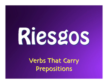 Spanish Verbs that Carry Prepositions Jeopardy-Style Review Game