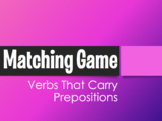 Spanish Verbs that Carry Prepositions Matching Game