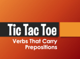 Spanish Verbs that Carry Prepositions Tic Tac Toe Partner Game
