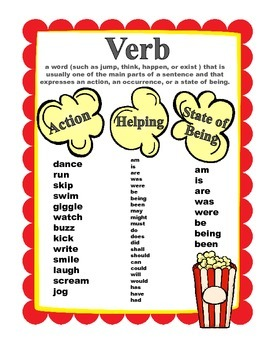 Verbs that POP!!