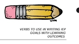 Verbs to Use in Writing Goals