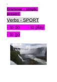 Verbs - to do, to play, to go - present simple - SPORT