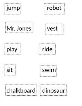 Verbs vs. Nouns Sort