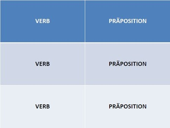 Verbs with Prepositions: Card Game
