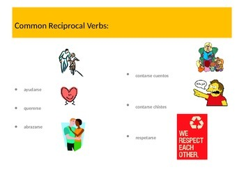 Verbs with Reciprocal Actions, Spanish 2-3