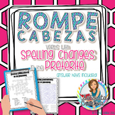 Verbs with Spelling Changes - Preterite Word Puzzles (Wordsearch and Crossword)