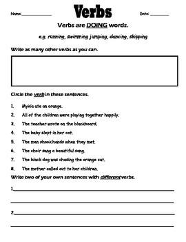 Strong Verbs Worksheet by Practical in First | Teachers Pay Teachers