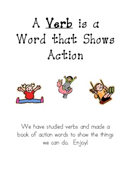 Verbs/Action Words Lesson Plan
