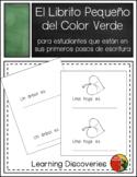 Verde, Librito de Escritura en Español - Little Book to Wr