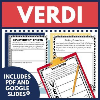 Verdi by Janell Cannon Book Companion