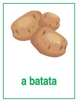 Verduras (Vegetables in Portuguese) Posters