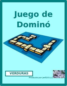 Verduras (Vegetables in Spanish) Dominoes