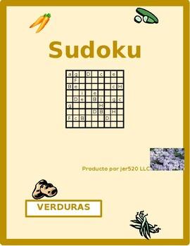 Verduras (Vegetables in Spanish) Sudoku