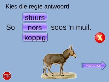 Vergelykings in Afrikaans