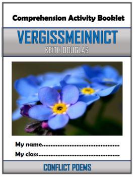 Vergissmeinnicht - War Poem - Comprehension Activities Booklet!