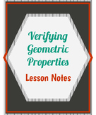 Verifying Geometric Properties Lesson Notes + Answers