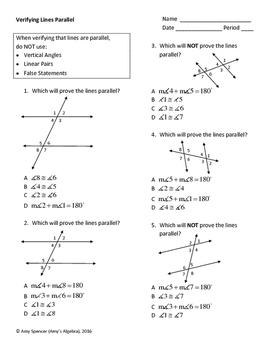 Verifying Lines Parallel