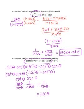 Verifying a Trigonometric Identity