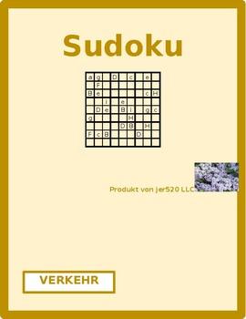 Verkehr (Transportation in German) Sudoku