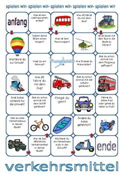 Verkehrsmittel / Transport / Types of transport