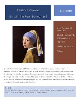 Vermeer - Girl with the Pearl Earring Sketchbook Prompt