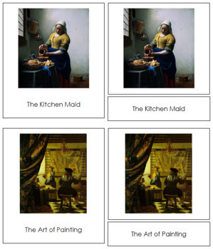 Vermeer (Johannes) 3-Part Art Cards