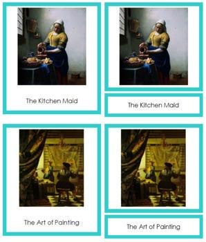Vermeer (Johannes) 3-Part Art Cards - Color Borders