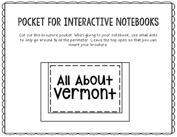 Vermont - State Research Project - Interactive Notebook - Mini Book