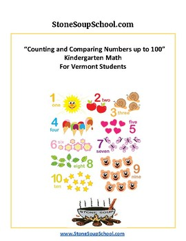 K - Vermont Common Core - Counting and Comparing Numbers up to 100
