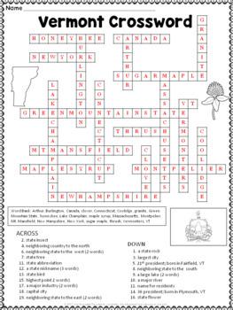 Vermont Crossword Puzzle
